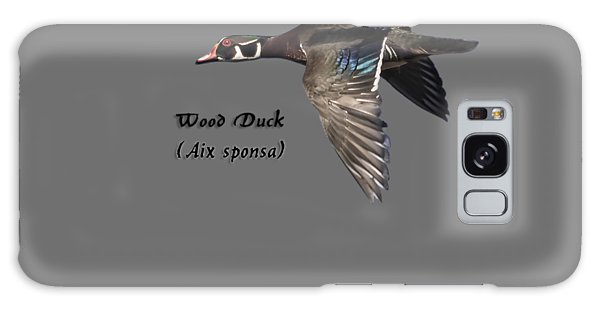 Isolated Wood Duck 2017-1 Galaxy Case