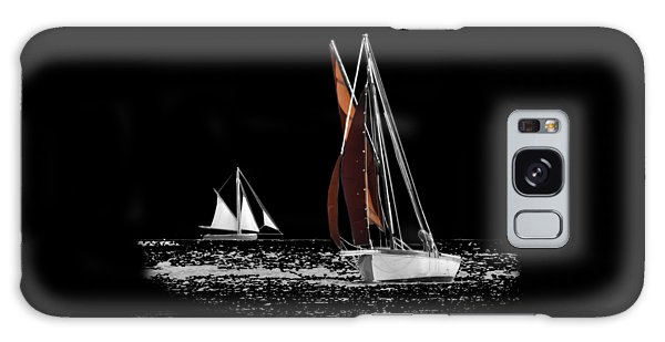 Isolated Yacht Carrick Roads On A Transparent Background Galaxy Case