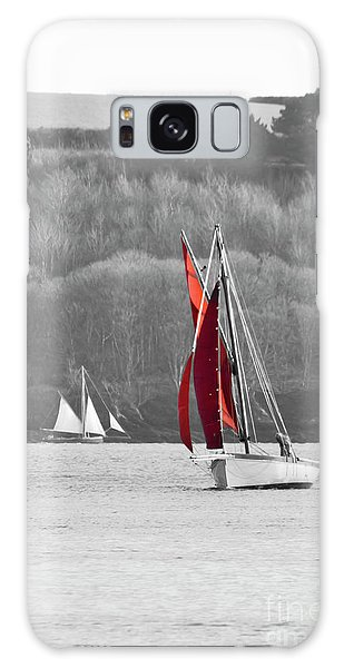 Isolated Yacht Carrick Roads Galaxy Case