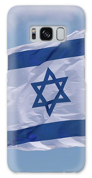 Israeli Flag In The Wind Galaxy Case
