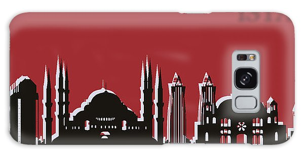 Traveler Galaxy Case - Istanbul Skyline Silhouette Pop Art by Dan Sproul