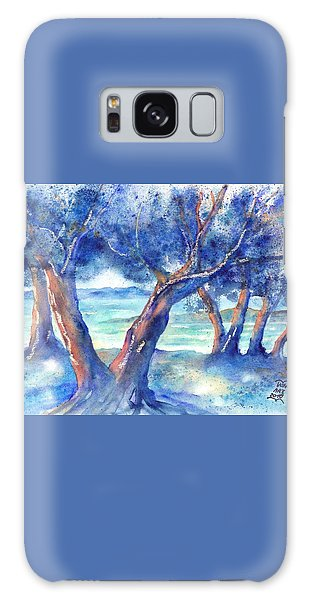 Olive Trees In Greece Galaxy Case