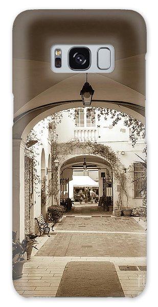 Italian Courtyard  Galaxy Case