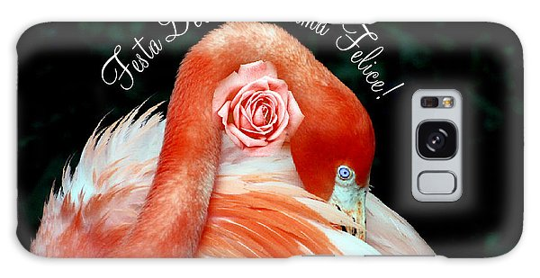 Italian Happy Mothers Day Flamingo Galaxy Case