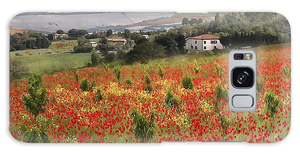 Italian Poppy Field Galaxy Case
