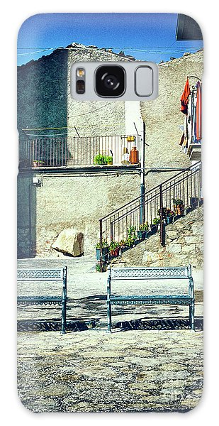 Galaxy Case featuring the photograph Italian Square With Benches by Silvia Ganora