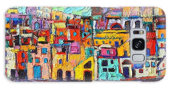 Italy Procida Island Marina Corricella Naples Bay Palette Knife Oil Painting By Ana Maria Edulescu Galaxy Case