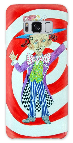 It's A Mad, Mad, Mad, Mad Tea Party -- Humorous Mad Hatter Portrait Galaxy Case