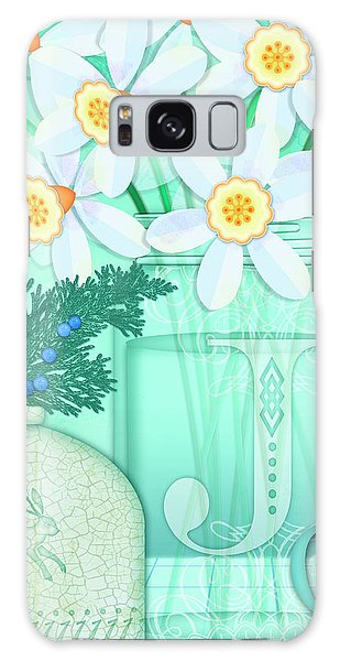 J Is For Jar Of Jonquils Galaxy Case
