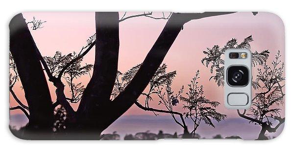 Jacaranda Silhouette Galaxy Case by Rona Black