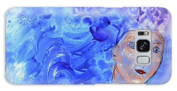 Galaxy Case featuring the painting Jack Frost's Girl by Claire Bull