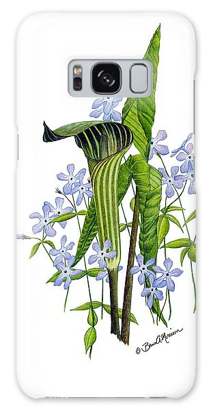 Jack-in-the-pulpit With Wild Sweet Williams Galaxy Case