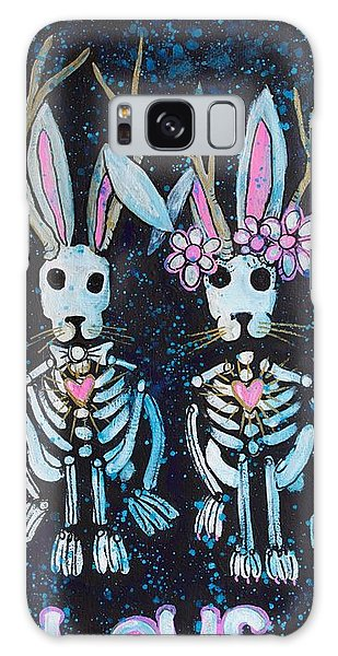 Galaxy Case featuring the painting Jackalope Love by Laurie Maves ART
