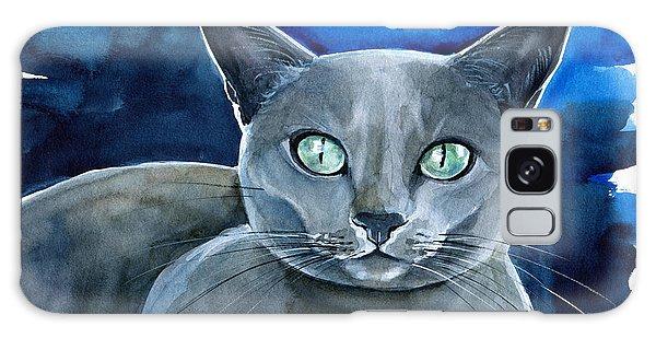 Jackpot - Russian Blue Cat Painting Galaxy Case