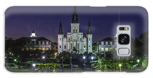 Jackson Square And St. Louis Cathedral At Dawn, New Orleans, Louisiana Galaxy Case