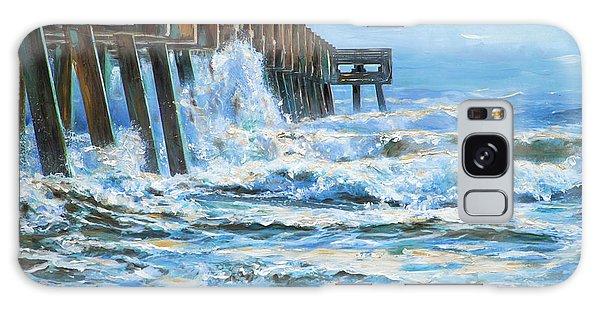 Jacksonville Beach Pier Galaxy Case