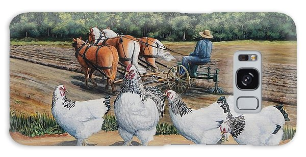 Jacobs Plowing And Light Bramah Chickens Galaxy Case by Ruanna Sion Shadd a'Dann'l Yoder