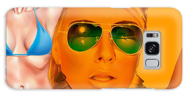 Galaxy Case featuring the digital art Jacqui by Brian Gibbs