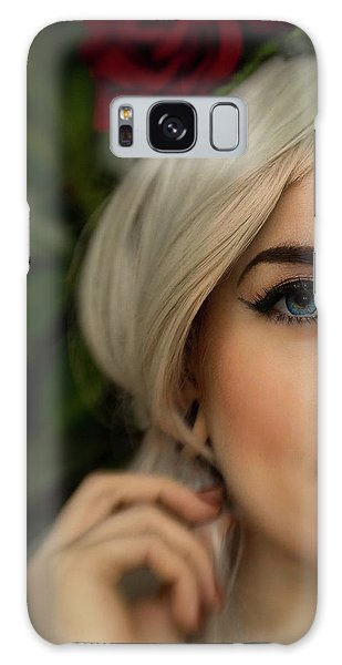 Jade Close Crop Galaxy Case