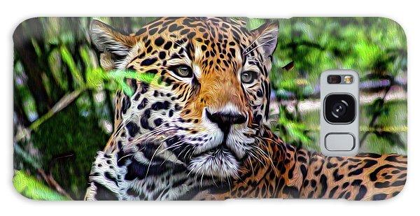 Jaguar At Peace Galaxy Case