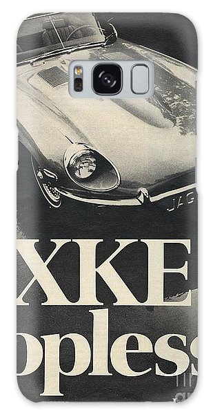 Jaguar Automobile Xke Topless Advert Galaxy Case