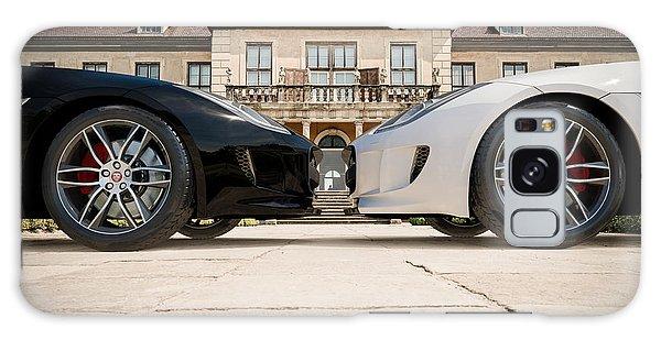 Jaguar F-type - Black And White Galaxy Case