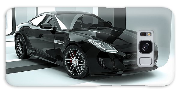 Jaguar F-type - Black Retro Galaxy Case