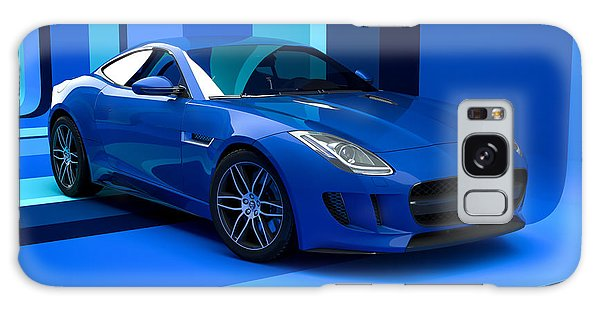 Jaguar F-type - Blue Retro Galaxy Case