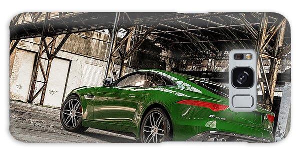 Jaguar F-type - British Racing Green - Rear View Galaxy Case