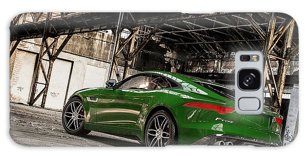 Jaguar F-type - British Racing Green - Rear View Galaxy Case