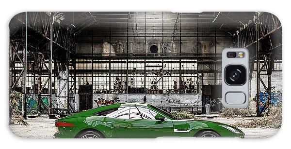 Jaguar F-type - British Racing Green - Side View Galaxy Case