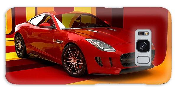 Jaguar F-type - Red Retro Galaxy Case