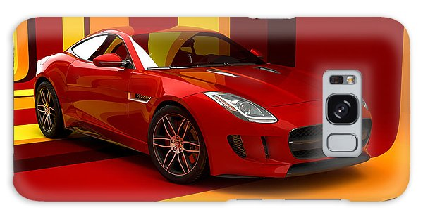 Jaguar F-type - Red Retro Galaxy Case