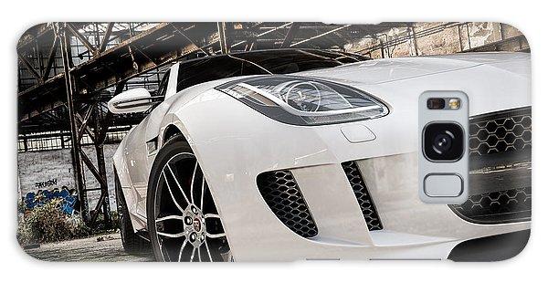 Jaguar F-type - White - Front Close-up Galaxy Case