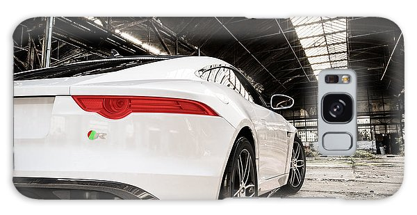 Jaguar F-type - White - Rear Close-up Galaxy Case