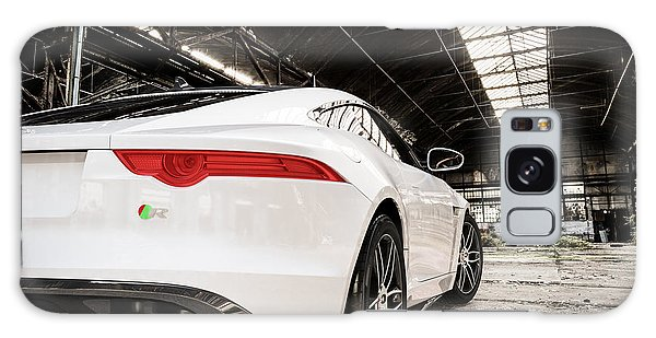 Jaguar F-type - White - Rear Close-up Galaxy Case