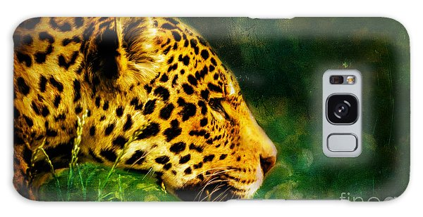 Jaguar In The Grass Galaxy Case
