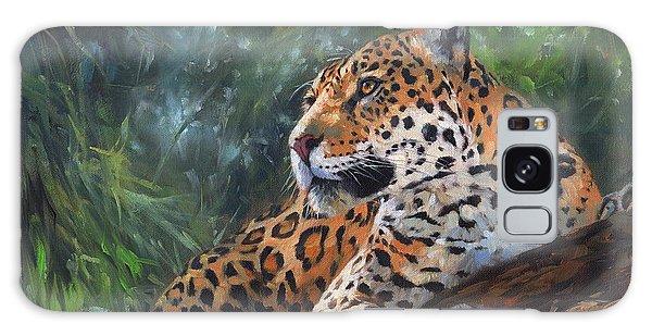 Jaguar In Tree Galaxy Case by David Stribbling