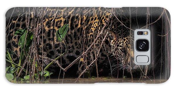 Jaguar In Vines Galaxy Case by Wade Aiken