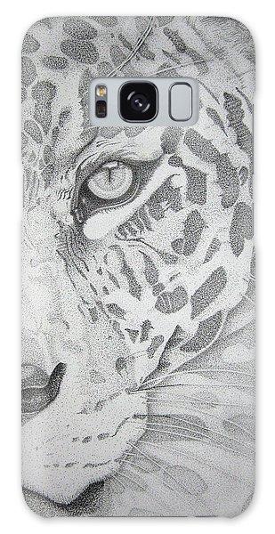 Jaguar Pointillism Galaxy Case by Mayhem Mediums