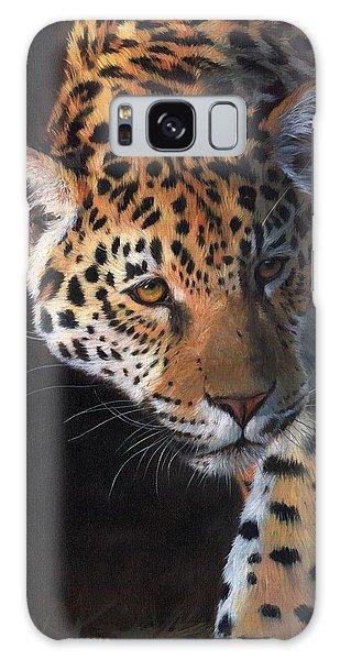 Jaguar Portrait Galaxy Case by David Stribbling