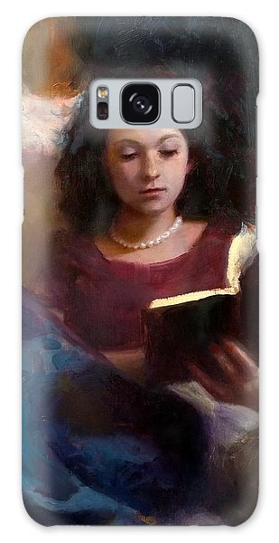 Jaidyn Reading A Book 1 - Portrait Of Young Woman - Girls Who Read - Books In Art Galaxy Case
