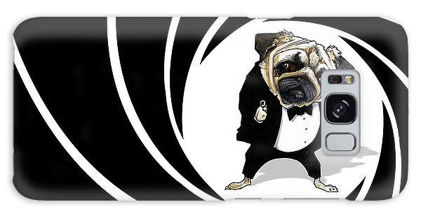 James Bond Pug Caricature Art Print Galaxy Case