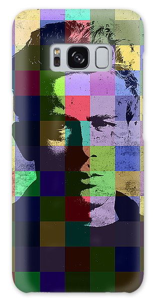 James Dean Actor Hollywood Pop Art Patchwork Portrait Pop Of Color Galaxy Case by Design Turnpike