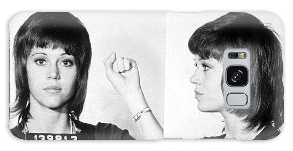 Jane Fonda Mug Shot Horizontal Galaxy Case by Tony Rubino