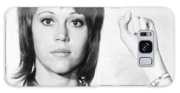 Jane Fonda Mug Shot Vertical Galaxy Case by Tony Rubino