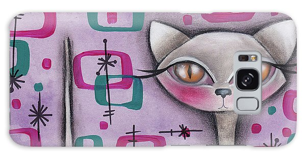 Janice Cat Galaxy Case by Abril Andrade Griffith