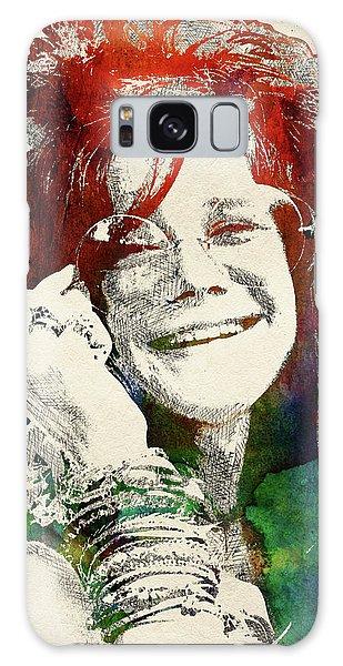 Sixties Galaxy Case - Janis Joplin Portrait by Mihaela Pater
