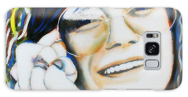 Janis Joplin Pop Art Portrait Galaxy Case