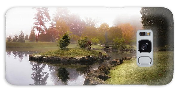 Foliage Galaxy Case - Japanese Garden In Early Autumn Fog by Tom Mc Nemar